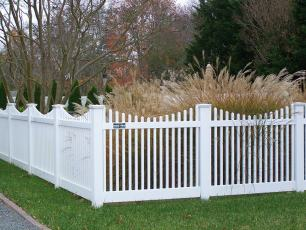 Talbot Dip Vinyl Picket Fence
