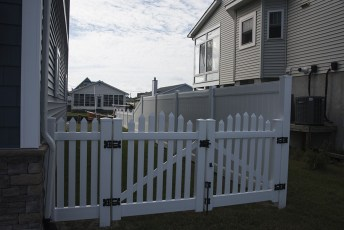 "48"" Tidewater Fence with 6' Privacy Fence"