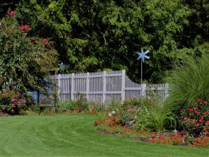 "72"" Talbot Vinyl Mid-Rail Picket Fence"