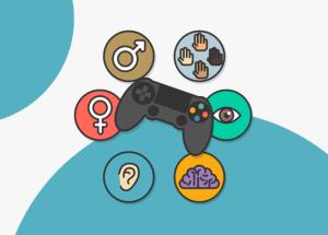 logo accesibilidad videojuegos