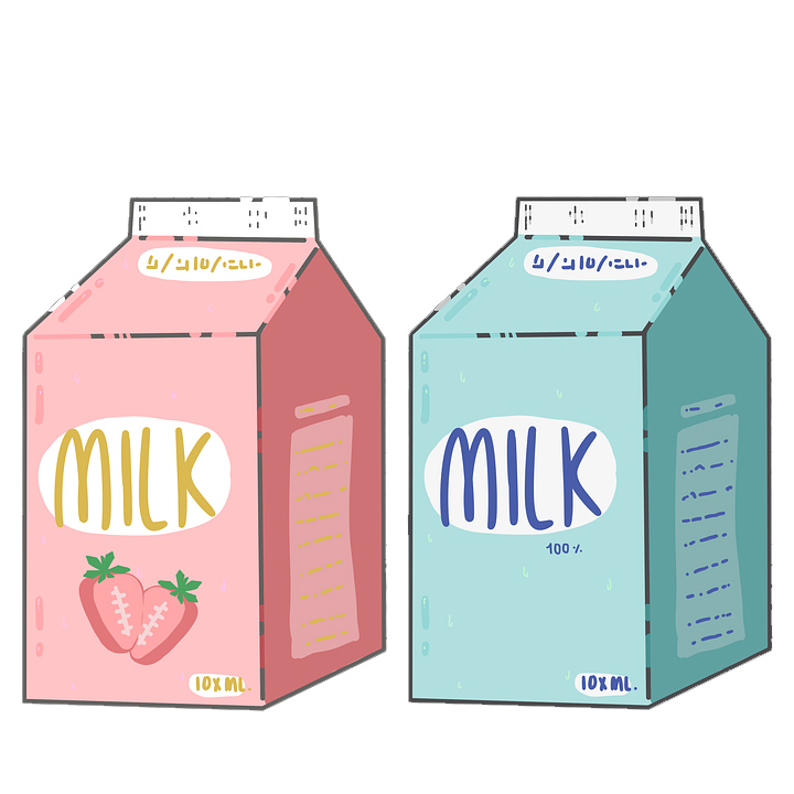 milk cartoon boxes