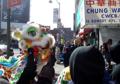 Lion Dancers in Action