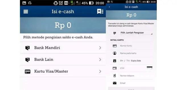 mandiri e cash - visa