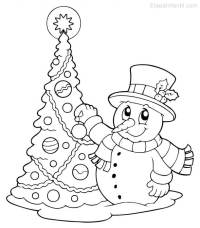 Dibujos de Navidad para colorear - Etapa Infantil