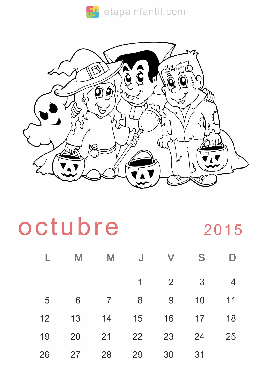 Calendario De Para Imprimir Y Colorear