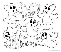Dibujos Para Colorear De Fantasmas Infantiles Dibujos