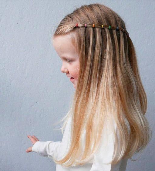 Girls hairstyle Half simulated braid