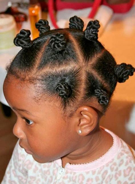 Girl hairstyle Mini multi bows