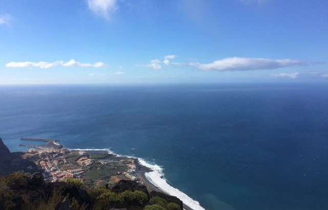 Der erste Aufstieg der Etappe nach Las Hayas bietet tolle Ausblicke