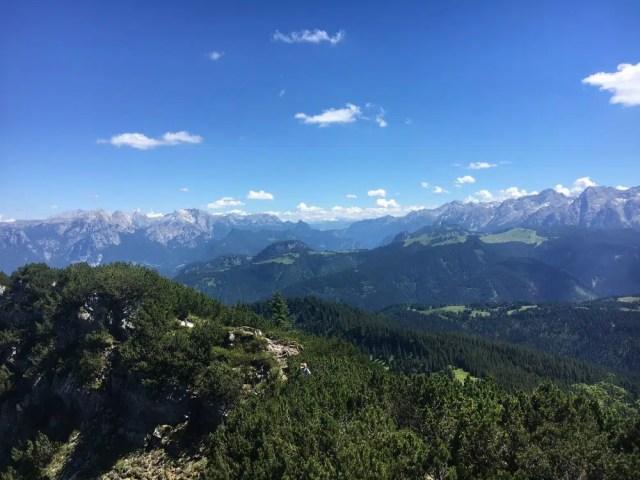 Blick über die Chiemgauer Alpen