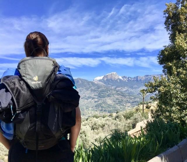 Rucksack beim Wandern