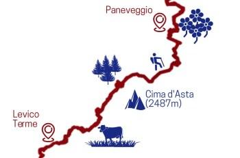 5. Teilstrecke Sentiero della Pace