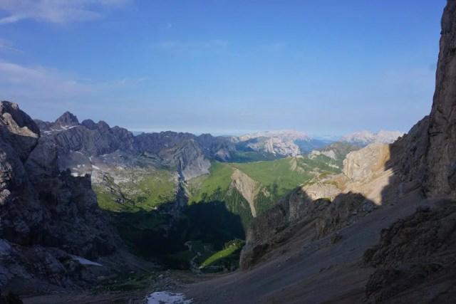Blick in Fassaner Dolomiten