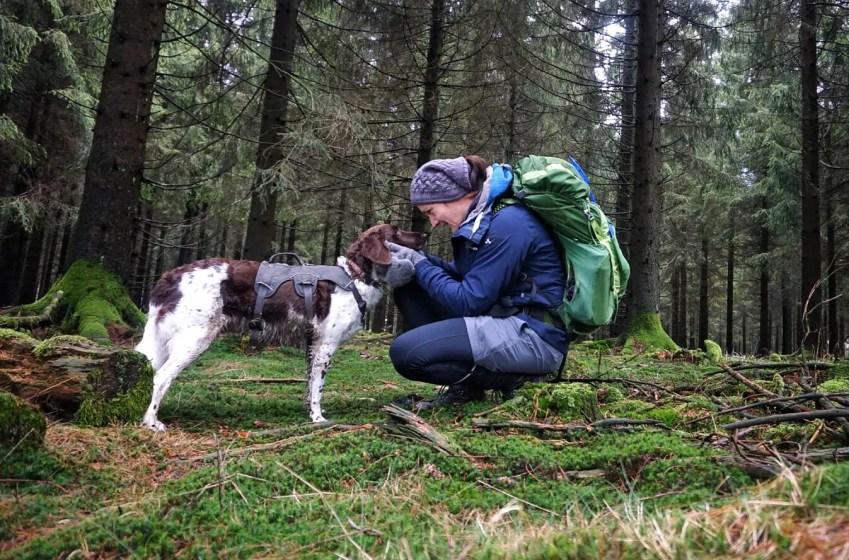 Mit Hund auf Trekking