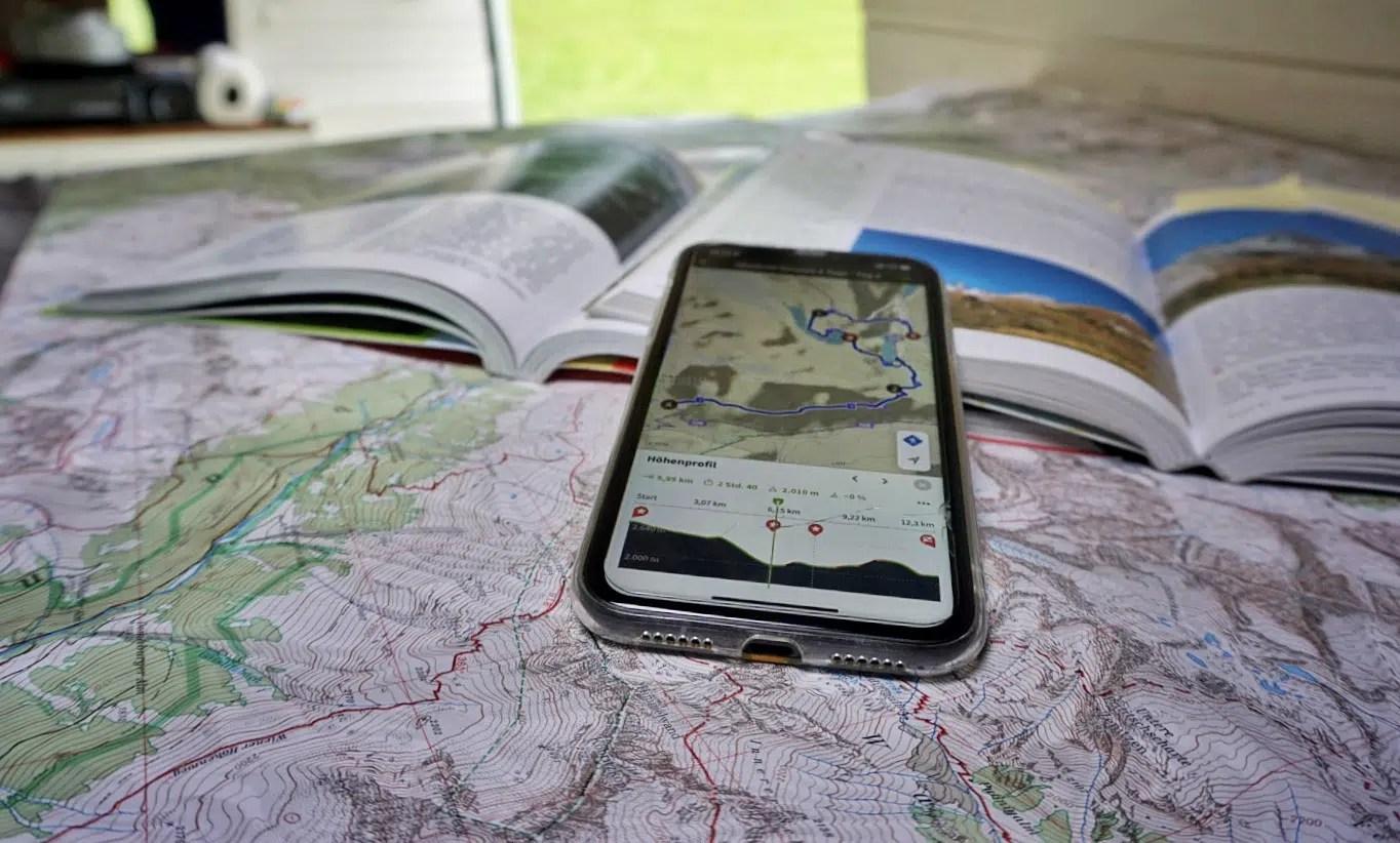 Routenplanung für Hüttentouren