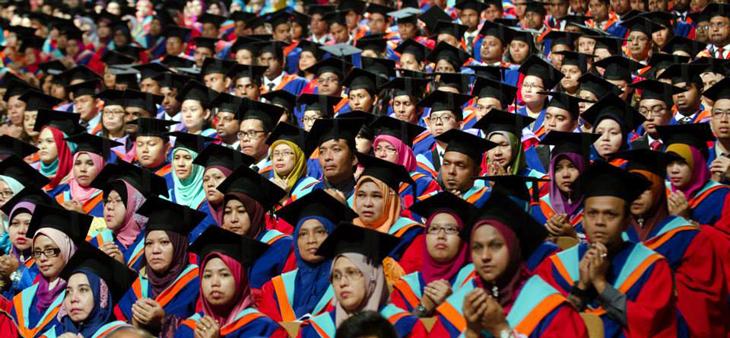 University students graduation - Asia E-university