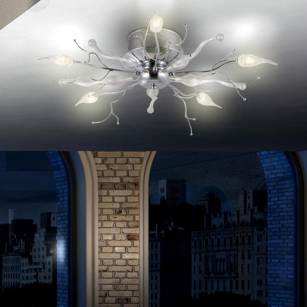 Kronleuchter 5x LED Licht ste Wohnzimmer Leuchte Esszimmer Decken Lampe Blten  eBay