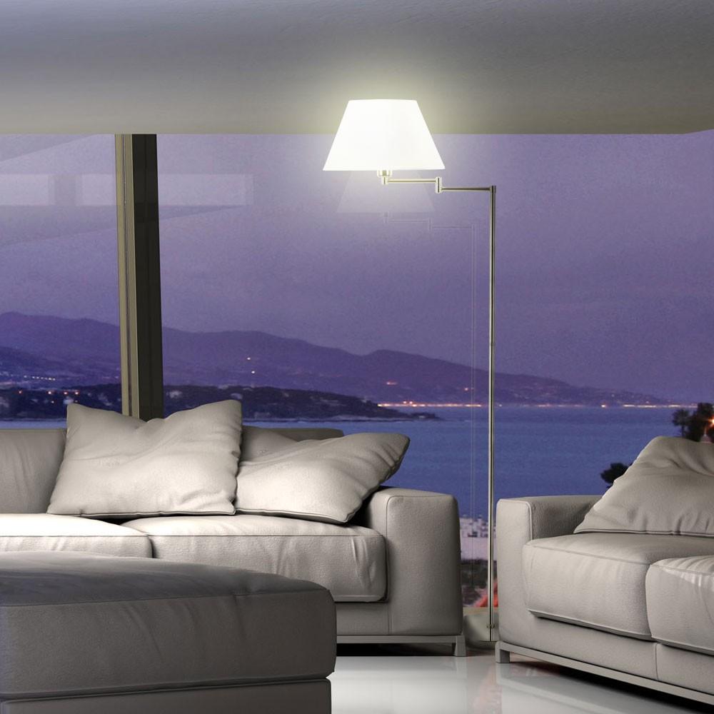 Stehleuchte Stehlampe Wohnzimmer Standleuchte Messing matt Leselampe Designlampe  eBay