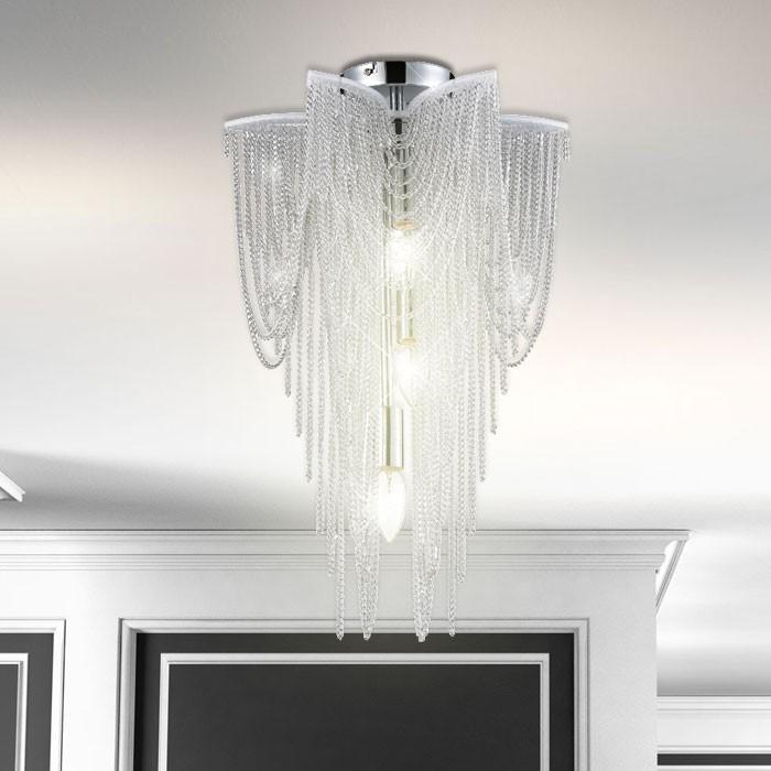 Hngeleuchte Kronleuchter Silber Deckenlampe Leuchte Wohnzimmer Deckenleuchte  eBay