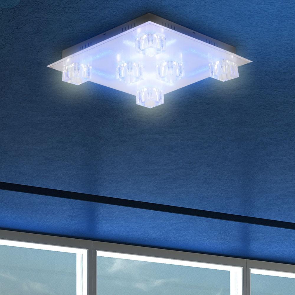 Wohnzimmer LED Deckenleuchte Effektlampe Fernbedienung Deckenlampe Leuchte Licht  eBay