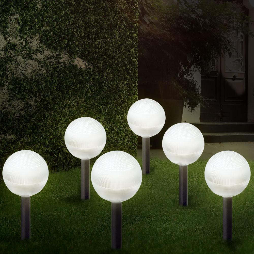 Luxus 6er Set Solar Garten LED Leuchte Lampe Beleuchtung