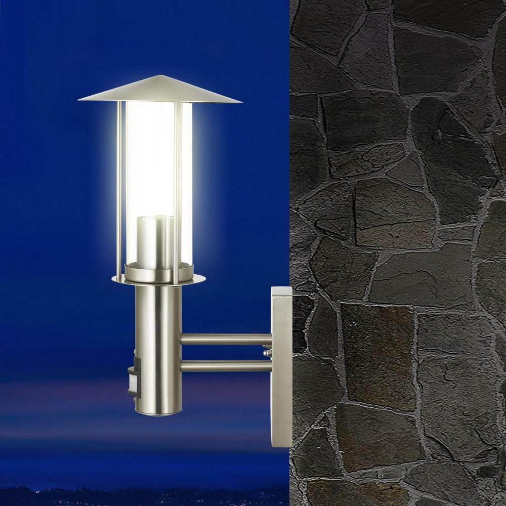 Edelstahl Garten Wand Außen Leuchte Bewegungsmelder Mit 5W LED