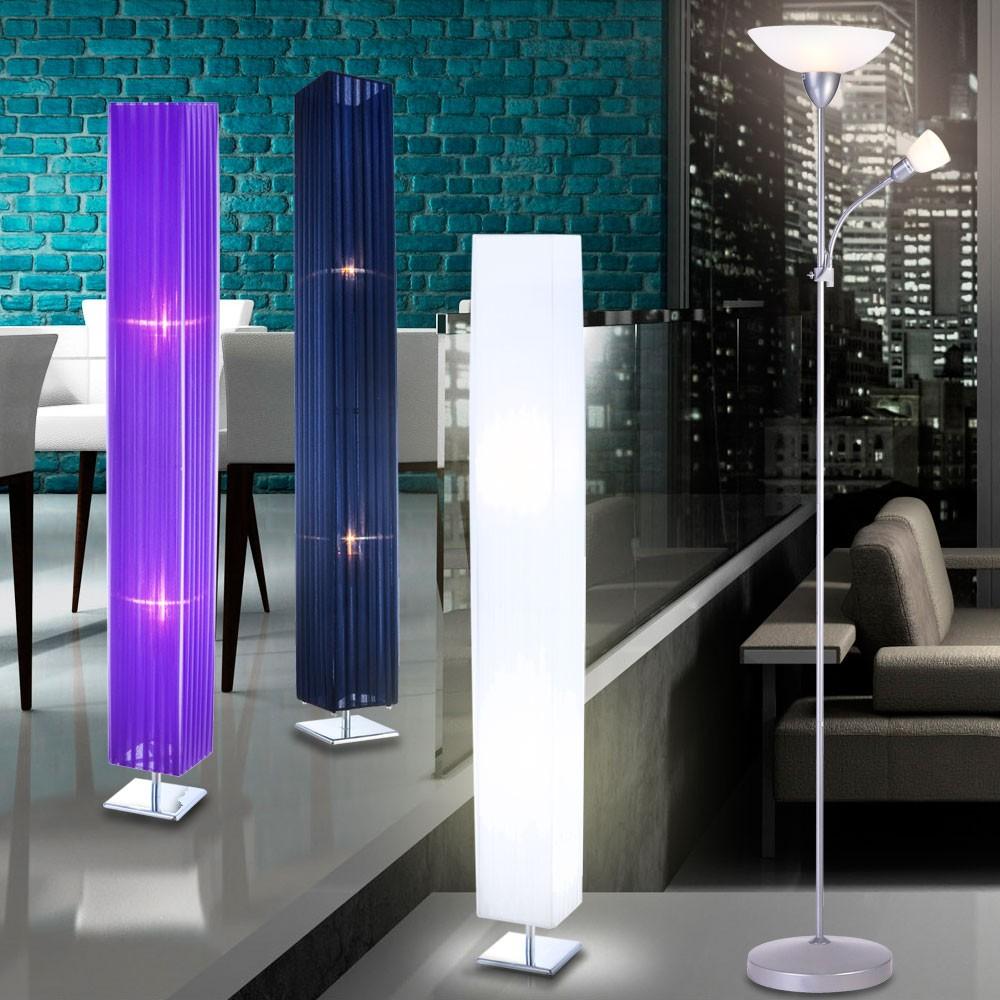 Stehlampe Stehleuchte Wohnzimmer Lese Lampe Deckenfluter Bro Lichtsule Auswahl  eBay