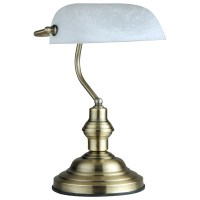 LED 6 Watt table lamp bankers lamp antique old brass desk ...