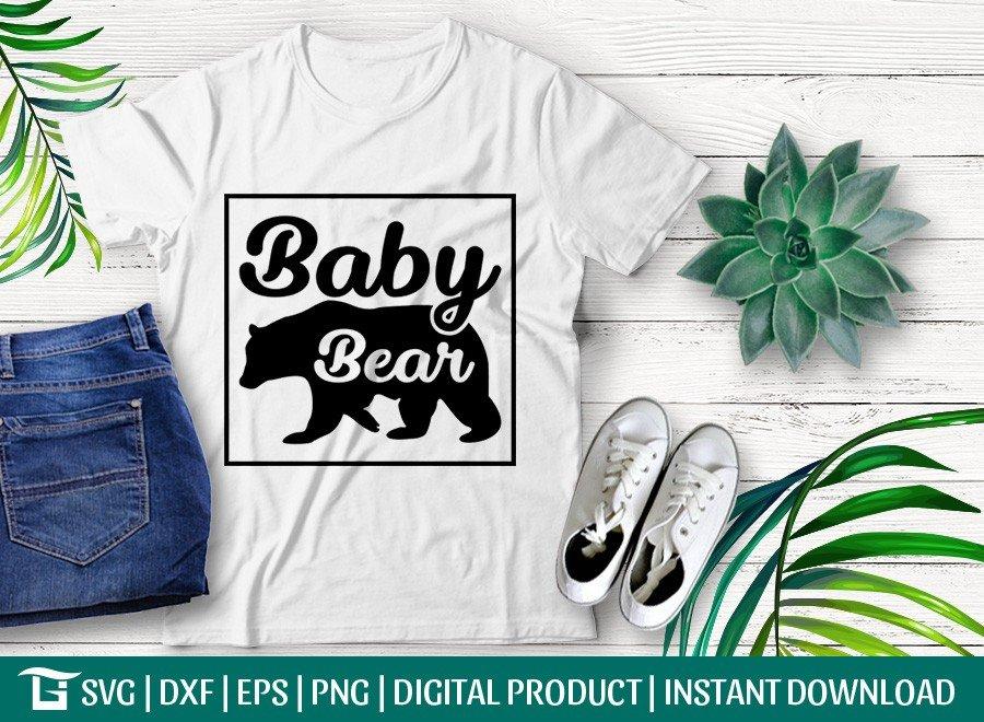 Baby Bear SVG | T-shirt Design | Bear Quote Design