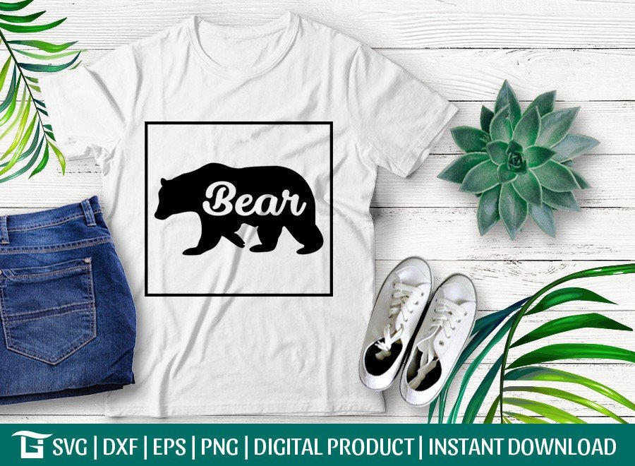 Bear SVG | Bear T-shirt Design | Bear Quote Design