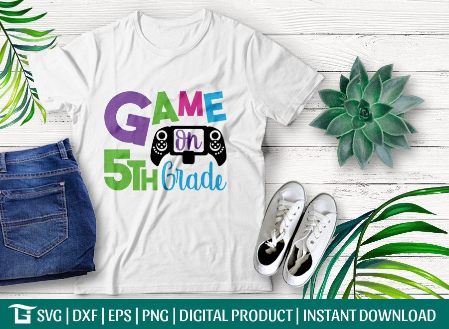 Game On 5th Grade SVG | First Day School | T-shirt Design