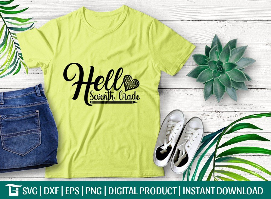 Hello Seventh Grade SVG | Back To School SVG T-shirt Design