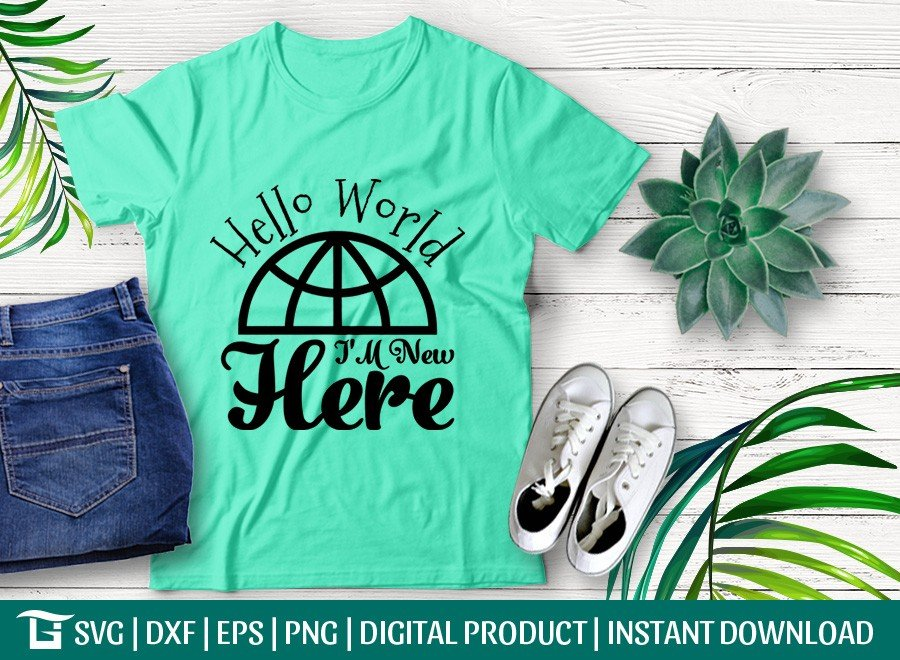 Hello World I'm Coming Here SVG | T-shirt Design