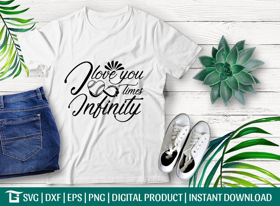 I Love You Times Infinity SVG | T-shirt Design