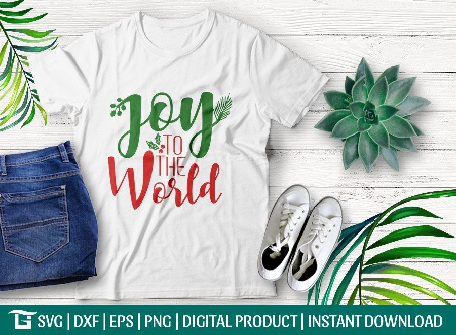 Joy To The World SVG | Christmas SVG | T-shirt Design