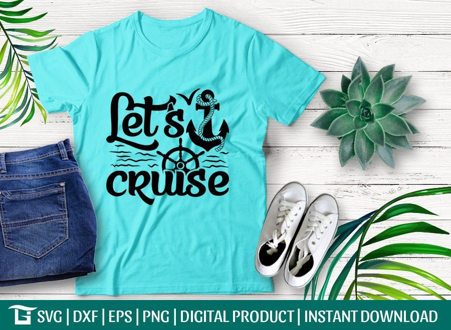 Lets Cruise SVG | Anchor SVG | Beach SVG