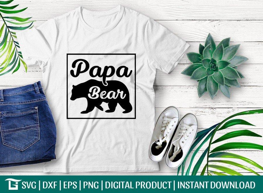 Papa Bear SVG | Bear Dad SVG | T-shirt Design