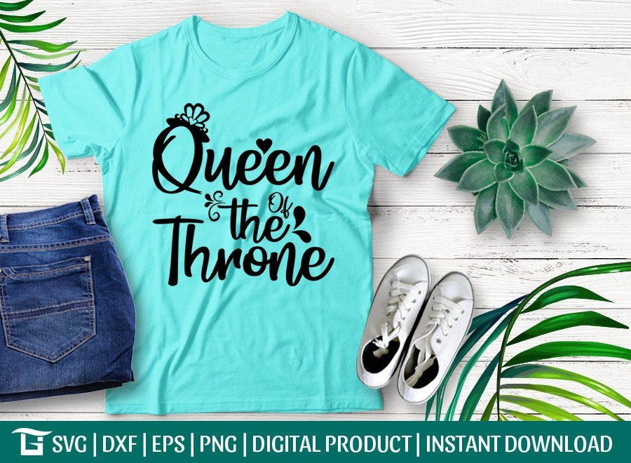 Queen Of The Throne SVG | Valentine's Day