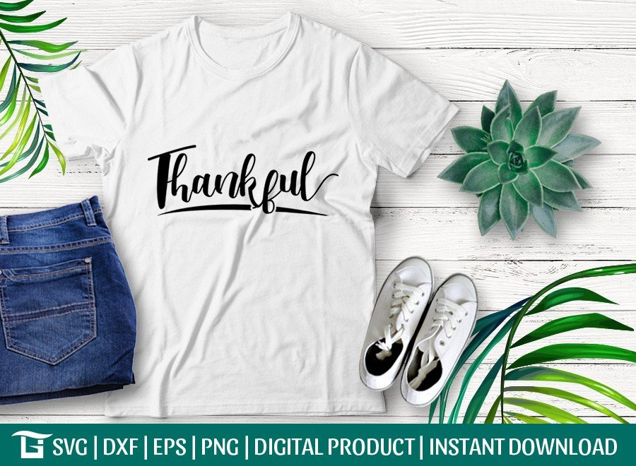 Thankful SVG | Autumn | Thanksgiving SVG | T-shirt Design
