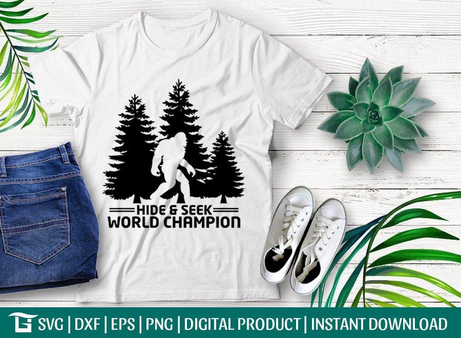 Hide & Seek SVG | World Champion SVG | Bigfoot SVG