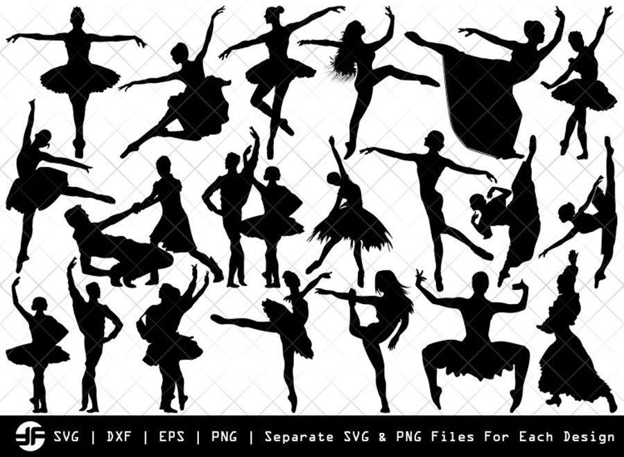 Ballet SVG | Dancer | Balle Dancer Silhouette Bundle | Cut File