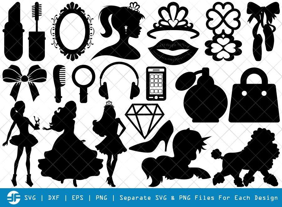 Barbie Set SVG Cut Files | Barbie And Ken Silhouette Bundle