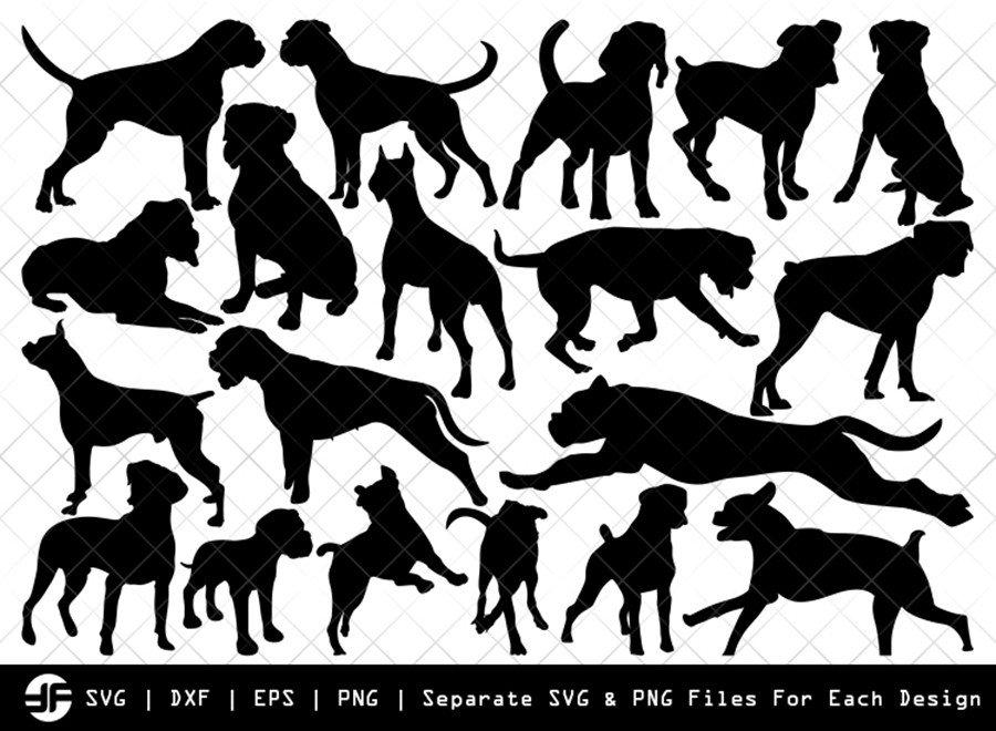Boxer Dog SVG | Animal SVG | Silhouette Bundle | Cut File