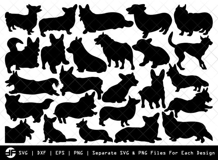 Corgi Dog SVG | Animal SVG | Silhouette Bundle | Cut File