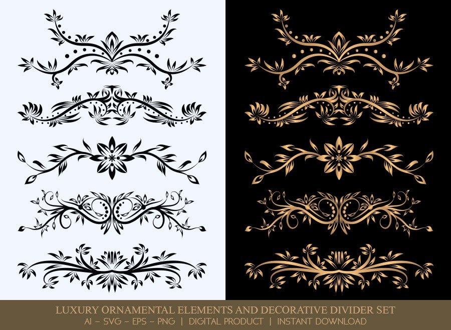 Luxury Decorative Divider Set SVG Cut Files | DDS012