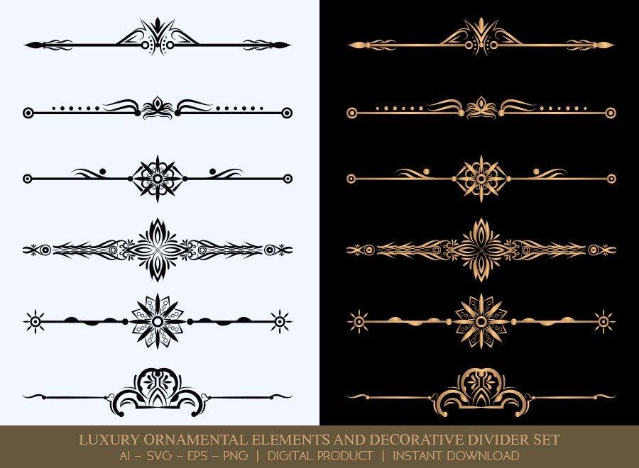 Luxury Decorative Divider Set SVG Cut Files | DDS021