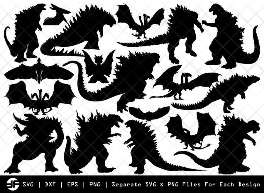 Godzilla SVG | Animal SVG | Silhouette Bundle | SVG Cut File