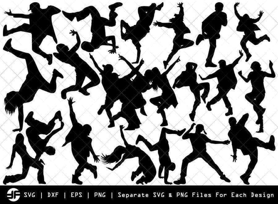Hip Hop SVG | Hip Hop Silhouette Bundle | SVG Cut File