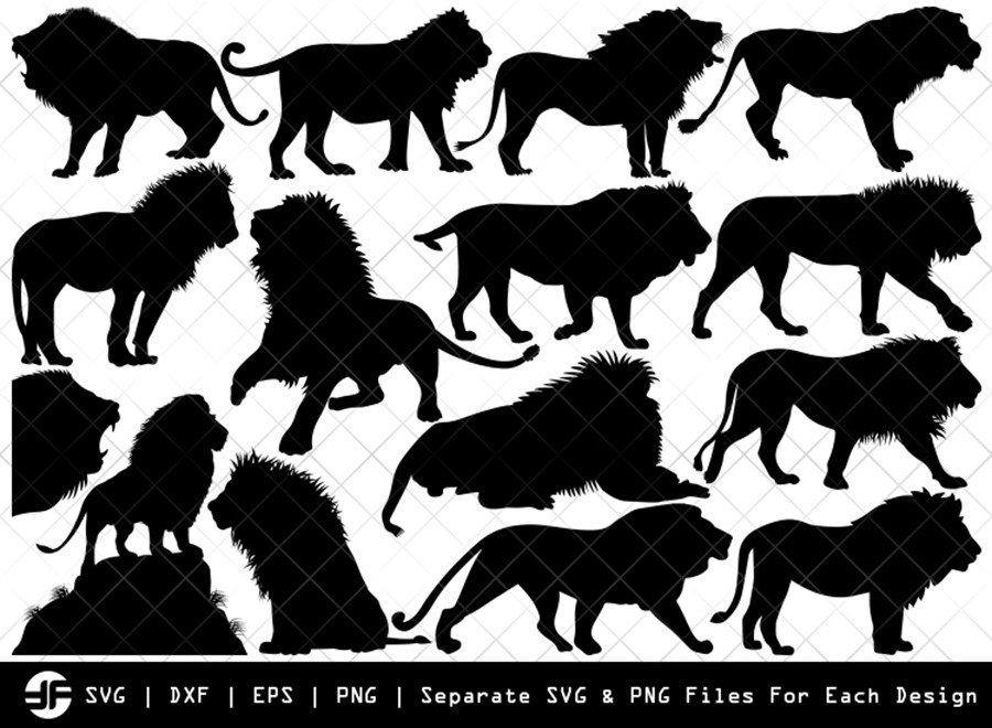 Lion SVG | Animal SVG | Silhouette Bundle | SVG Cut File