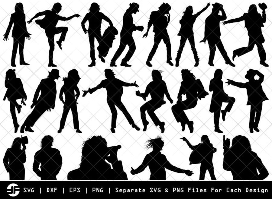 Michael Jackson SVG | Silhouette Bundle | SVG Cut File